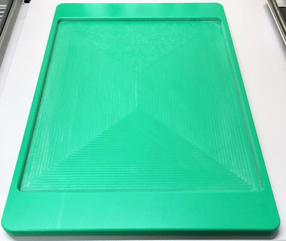 20mm thick machined tray